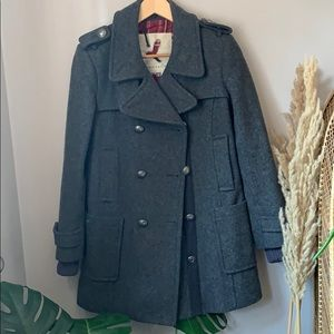 Aritzia Grey Wool Cadet Coat Size S